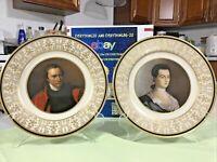 "Set 2 Bicentennial Society Patriot Series Plate ""Patrick Henry & Abigail Adams"""