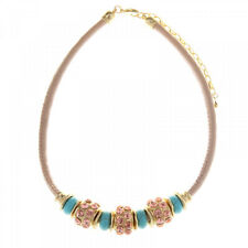 Pink Gem and Turquoise Bead Necklace from Timeless Season