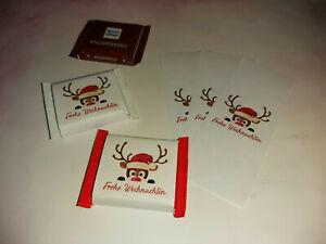 25 Banderolen Weihnachten - Rentier - Kundengeschenk Give Away Schokolade