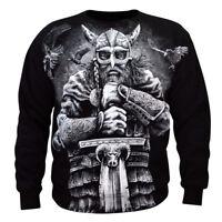 Sweatshirt Valhalla Nordic Viking Drakar Vikings Warrior Odin Thor Wiking Black
