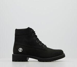 Womens Timberland Slim Premium 6 Inch Boots Black Nubuck Diamond Boots