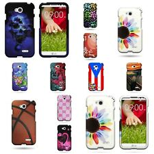 For LG Pulse / LG Realm - Hard Plastic Snap On Design Phone Cover Case