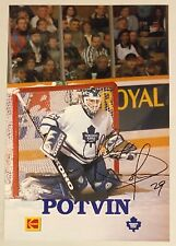 """FELIX POTVIN, MAPLE LEAFS TEAM ISSUED """"FACSIMILE"""" PHOTO IN EXCELLENT CONDITION !"""