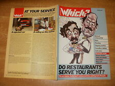 March 1986, WHICH?, Hotel & Restaurant Law, Stepladders, Vacuum Cleaners, Rates.