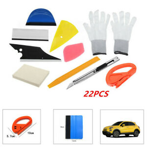 22PCS Car SUV Window Tint Vinyl Wrap Stickers Set Squeegee Scraper Repair Tool