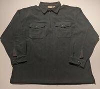 Vintage LL Bean Men's Large 1/4 Zip Fleece Pullover Sweatshirt Jacket Green