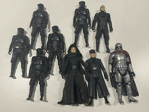 Star Wars - Kylo Ren, General Hux, Captain Phasma & 5 x Tie Fighter Pilots