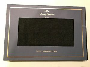 Tommy Bahama Mens 100% Cashmere Scarf Charcoal Grey Box New $198.00 Free Ship