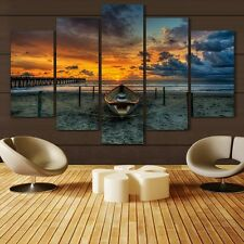 Modern Abstract Oil Painting Wall Decor Art Huge - Landscape Sunset Beach