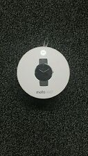 Motorola Moto 360 - Stone Grey Leather Smart Watch, Stone Grey, Leather