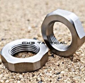 Ruger 10/22 Stainless Steel Muzzle Brake Jam Nut Washer 1/2-28 TPI 2pcs 1022