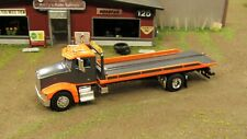 SPECCAST ORANGE /GREY A PETE 385 SEMI CAB ROLLBACK WRECKER TOW TRUCK 1:64/ LOOSE