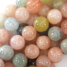 "Natural Morganite Round Beads Gemstone 15.5"" Strand 6mm 8mm 10mm 12mm"