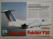 7/81 PUB FOKKER F28 AIR FRANCE AIR ALSACE AIRLINE CITYHOPPER ORIGINAL FRENCH AD