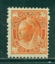 CANADA 72 SG148 MH 1897 8c orange QVIC Maple Leaf Issue Cat$325