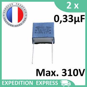 2 Capacitors Mkp X2 0, 33µF 0.33µF 330nF 334K 334 K 310V 275V 250V Uf