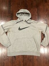 Nike Sportswear Big Logo Men's Fleece Hoodie Gray Size L