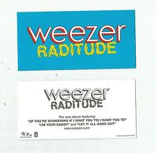 """Weezer - 5 New """"Raditude"""" Dgc promo stickers, 2009, Mint"""