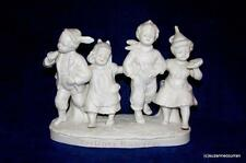 Antique German Parian Bisque Berliner Rankin Four Children Spill Vase D.R.G.M.
