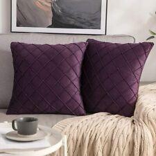 2 PACK Velvet Cushion Cover Square Throw Pillow Cover 18 x 18 Inch Sofa Home Car