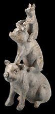 Schweine Pyramide Figur | Tierfigur, Dekofigur, Dekoartikel, Skulptur, H 35 cm