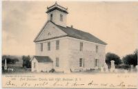 HERKIMER NY – Fort Herkimer Church Built 1767 Rotograph Postcard – udb – 1905