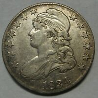 1834 Capped Bust Silver Half Dollar Grading XF Priced Right and Shipped FREE  b6