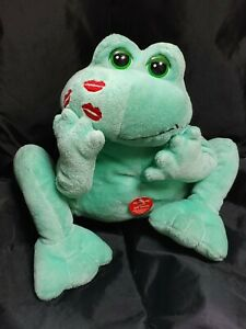 """Gund Heads and Tales Kissing Sound Frog Stuffed Plush 8"""""""