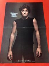 """BIG 14x22 BRUCE SPRINGSTEEN """"DARKNESS ON THE EDGE OF TOWN"""" LP ALBUM CD PROMO AD"""