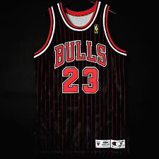 100% Authentic Michael Jordan NBA @50th Pinstripe Champion Bulls Game Jersey