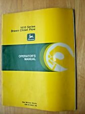 Original John Deere 1610 Series Drawn Chisel Plow Operators Manual Om N159457