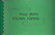 *LAKEWOOD OH 1983 KITCHEN KAPERS COOK BOOK *GIRL SCOUT TROOP *OHIO CAMP RECIPES