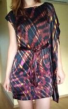 KAREN MILLEM Tribal Print SILK Tunic Graphic Dress UK10 US6 EUR 38