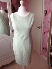 Red Herring Ladies Size 14 Wiggle Dress Lace Cream Green