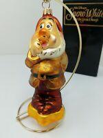SNEEZY Radko Disney Vintage 1997 Snow White and the Seven Dwarfs Ornament w/Box