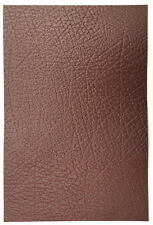 LEATHER COWHIDE PIECES 1 @ 30CM X 20CM TAN 1.8 MM THICK BROWN EMBOSSED GRAIN