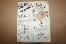 Vintage GI Joe Adventure Team - Sea Wolf Submarine - Original Instructions 1975