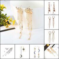 Women Bohemian Earrings Vintage Long Tassel Fringe Boho Dangle JEWEL Hotsale