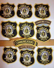 9 LOT GROVELAND POLICE COMM. OF MASSACHUSETTS PATCHES & MORE