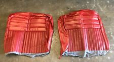 1963 Chevrolet Impala Bench Seat Back Rest covers Red