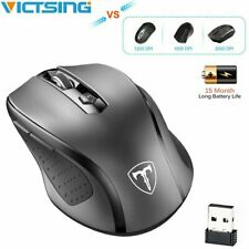 VicTsing 2.4GHz 2.4G Wireless Optical Mouse 2400DPI Adjustable 6 Buttons  US