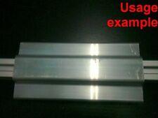 Aluminum T-slot profile blank double panel-mesh retainer 20 series L120mm, 4-set