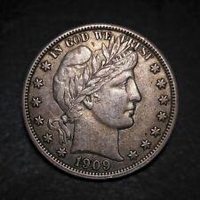 1909 50c Barber Half Dollar AU