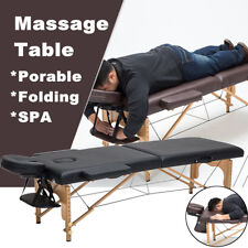 2 Fold 72''L Portable Massage Bed Table Therapy Facial Tattoo Facial Salon