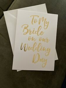 To My Bride On Her Wedding Day Card Blank Inside