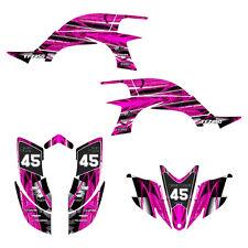 Yamaha YFZ 450 graphics 2003 2004 2005 2006 2007 2008 deco kit #2001 Hot Pink