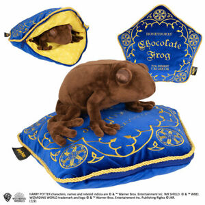 Official Harry Potter Chocolate Frog Plush Soft Toy + HONEYDUKES Cushion Pillow