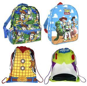 Disney Toy Story Backpack Woody Buzz Lightyear Gym Drawstring Bag Rucksack Range