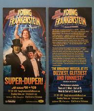 YOUNG FRANKENSTEIN Broadway Promo Flyer (Mel Brooks) Sutton Foster Roger Bart