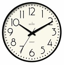 'Earl' Sweep Action Wall Clock In Black Case by Acctim